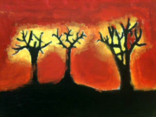 The Helpful Art Teacher: Paint the sky: Silhouettes and sunsets
