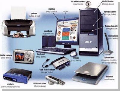 ... dari perangkat masukan dan keluaran, seperti keyboard dan printer