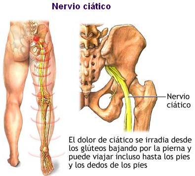 Los dolores en la espalda tira los pies