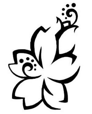 Tattoo Bunga Hawaiian
