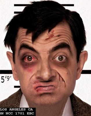 Gambar lucu Mr. Been ini hanya rekayasa photoshop, tapi lucu ya!