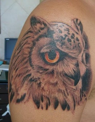 Hawaiian Owl Tattoo
