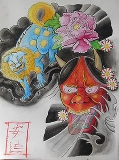 Tattoo Topeng Jepang Japanese Mask Album 2 Gambar Seni