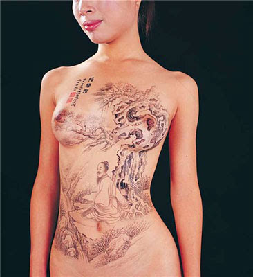 Art Body Painting Swimsuits