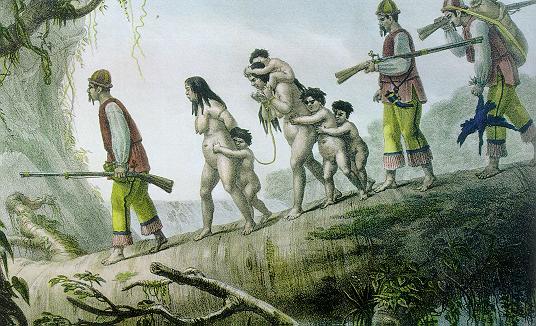 A principal mão de obra utilizada na América Espanhola foi a indígena.