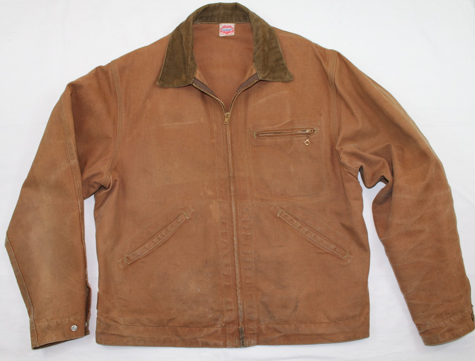 vintage workwear: 1940's era Carhartt Brown Duck Zipper Jacket
