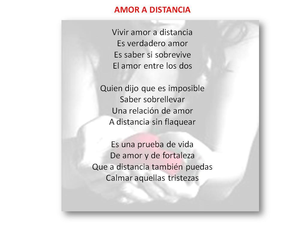 amor en la distancia. Poemas del amor a distancia