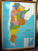 Mapa de la República Argentina, donde se iluminan lo nodos principales de la . mapa de teleproceso