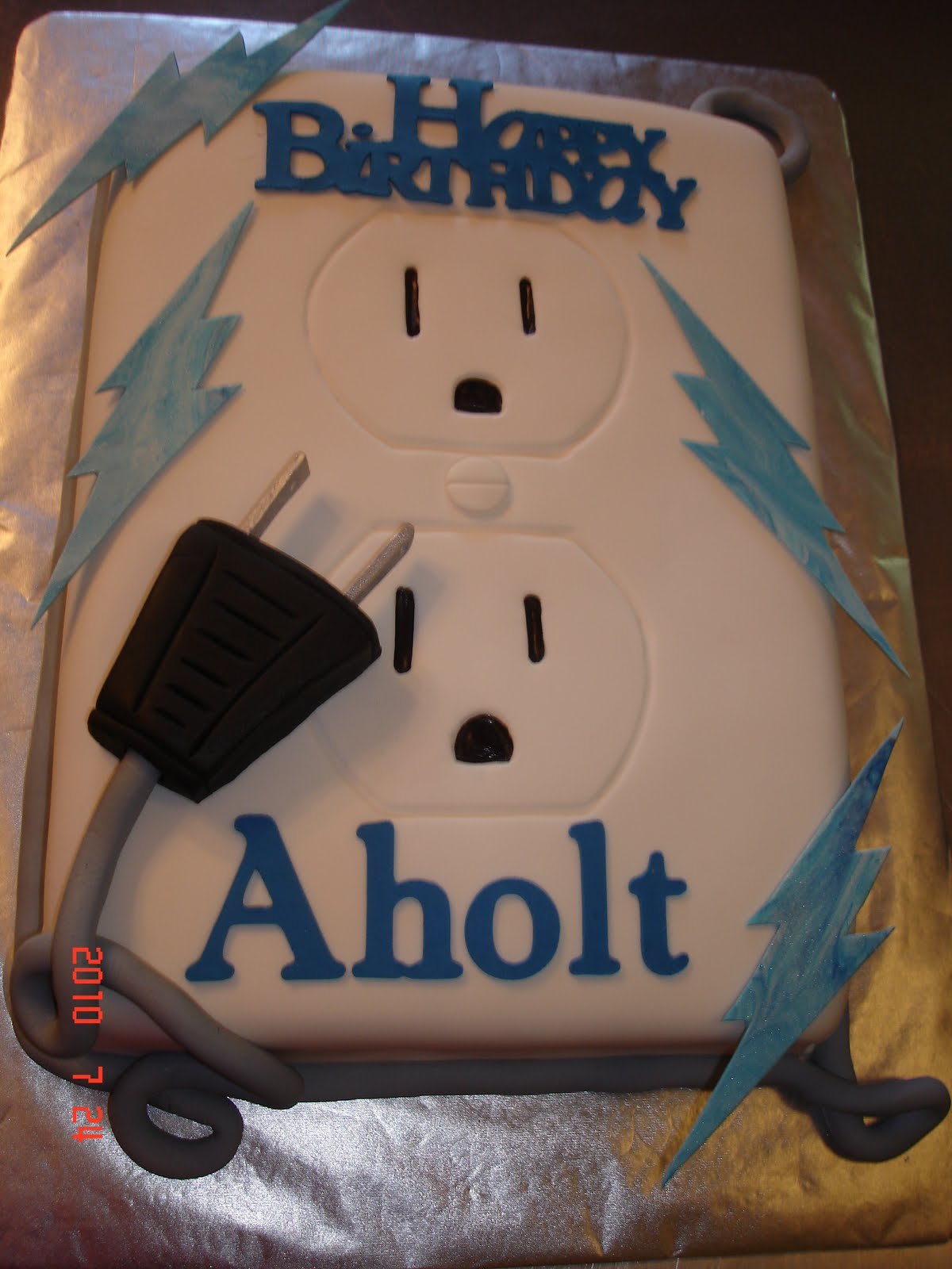 Electrician Cake Decorations http://lauralynns.blogspot.com/2010/07/electricians-birthday.html