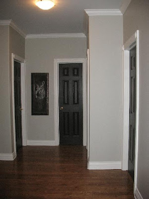 love the white trim with dark stained doors i want to. Black Bedroom Furniture Sets. Home Design Ideas