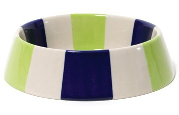 Circling a super-fun dog bowl by Jonathan Adler