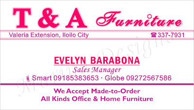 Business Card Sample (Furniture)