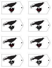 Raven Valentine Tags