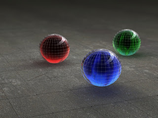 Grid Sphere Wallpaper 1024x768