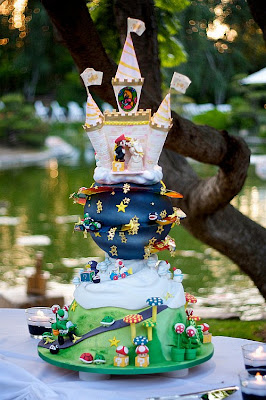 Super Mario Kart Wedding Cake