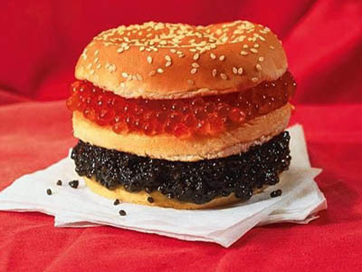 caviar burger After I get my 5 million dollar Condo, This will be my first meal in my New Crib