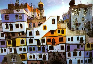 the hijabi beauty of doing nothing hundertwasser haus wien. Black Bedroom Furniture Sets. Home Design Ideas