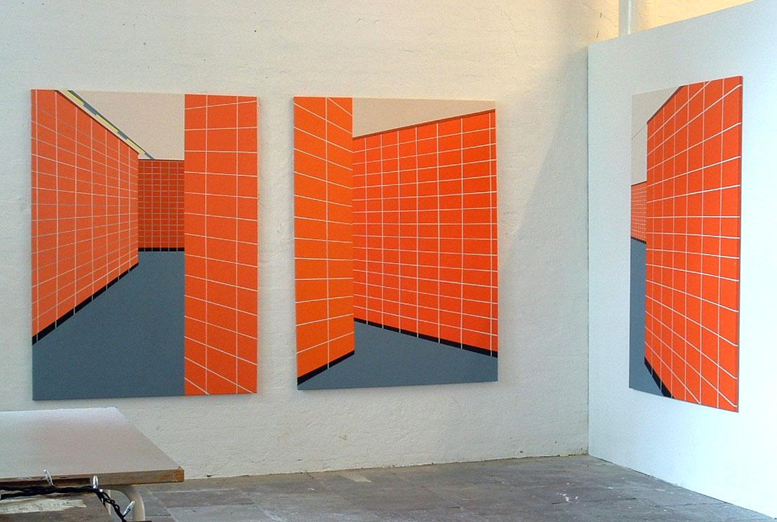 [Carina+Traberg,+Walking+Down...+1,+2+&3,+acrylic+on+canvas,+120x160cm+(each),+2004]