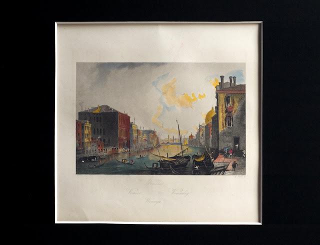 Grabado con la vista del Canal Grande de Canaletto