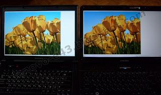 Сравнение ноутбуков Acer eMachines E525 (справа) и Lenovo E43 (в центре)