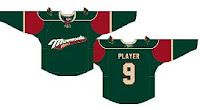 Computer Images of the New Wild Jersey, Green with Cream Writing