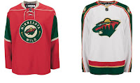 Classic Red and White Minnesota Wild Jerseys