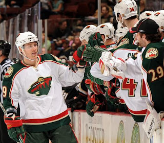 MN Wild bench supporting their team