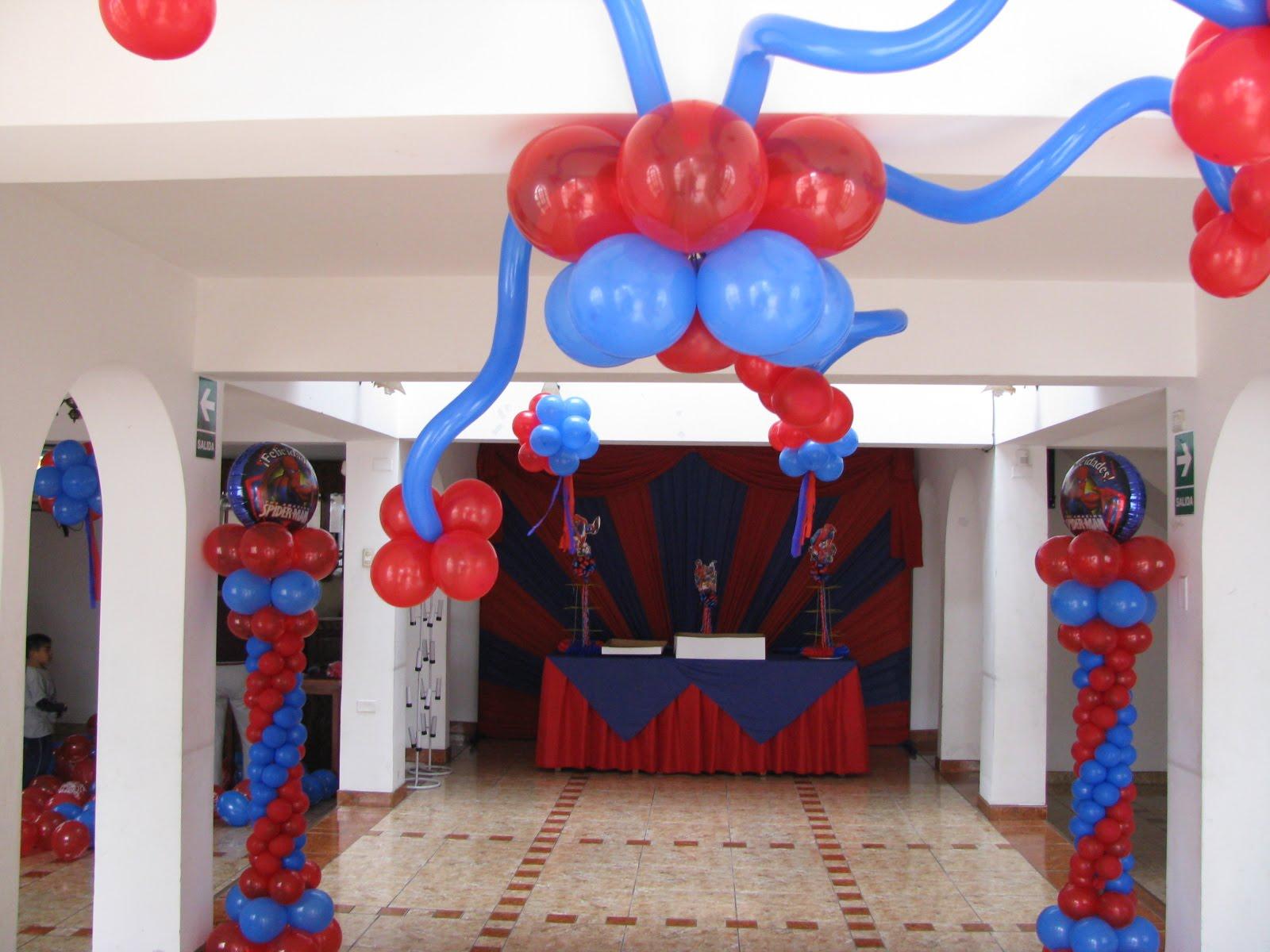 Decoracion con globos para fiestas