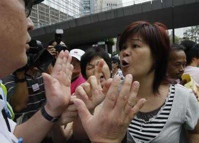Hongkong investors protest