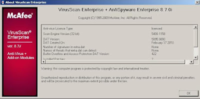 MCAFEE VIRUSSCAN ENTERPRISE 8.7I PATCH 4 - RELEASE NOTES Release Note