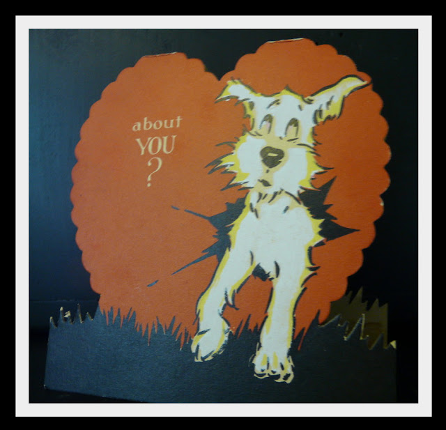 free printable retro valentine card dog