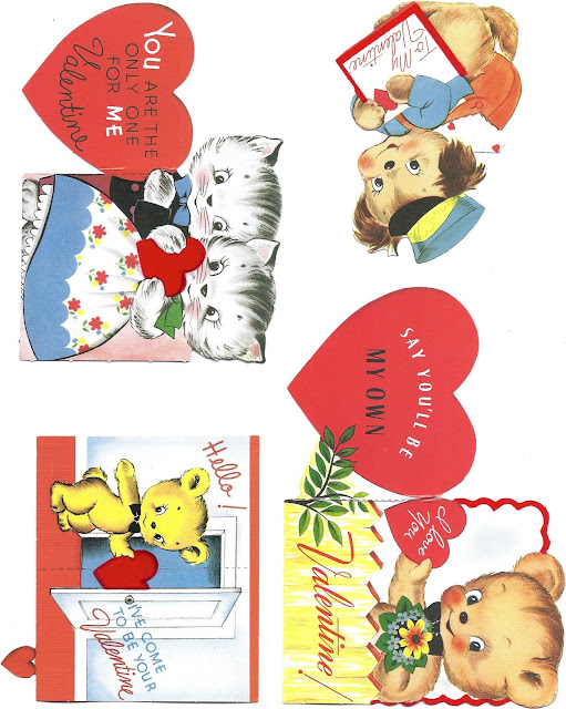 free printable retro valentine cards