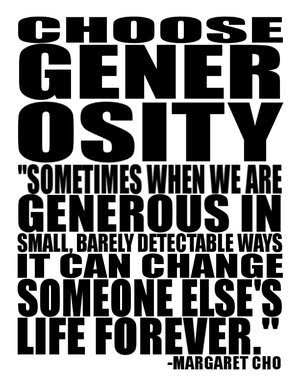 What Does Generosity Mean