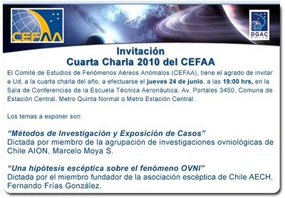 Cuarta Charla 2010 del CEFAA