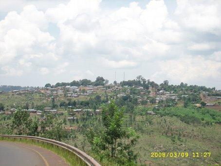 Vue d'une partie de l'HABITAT de la commune de Muyinga