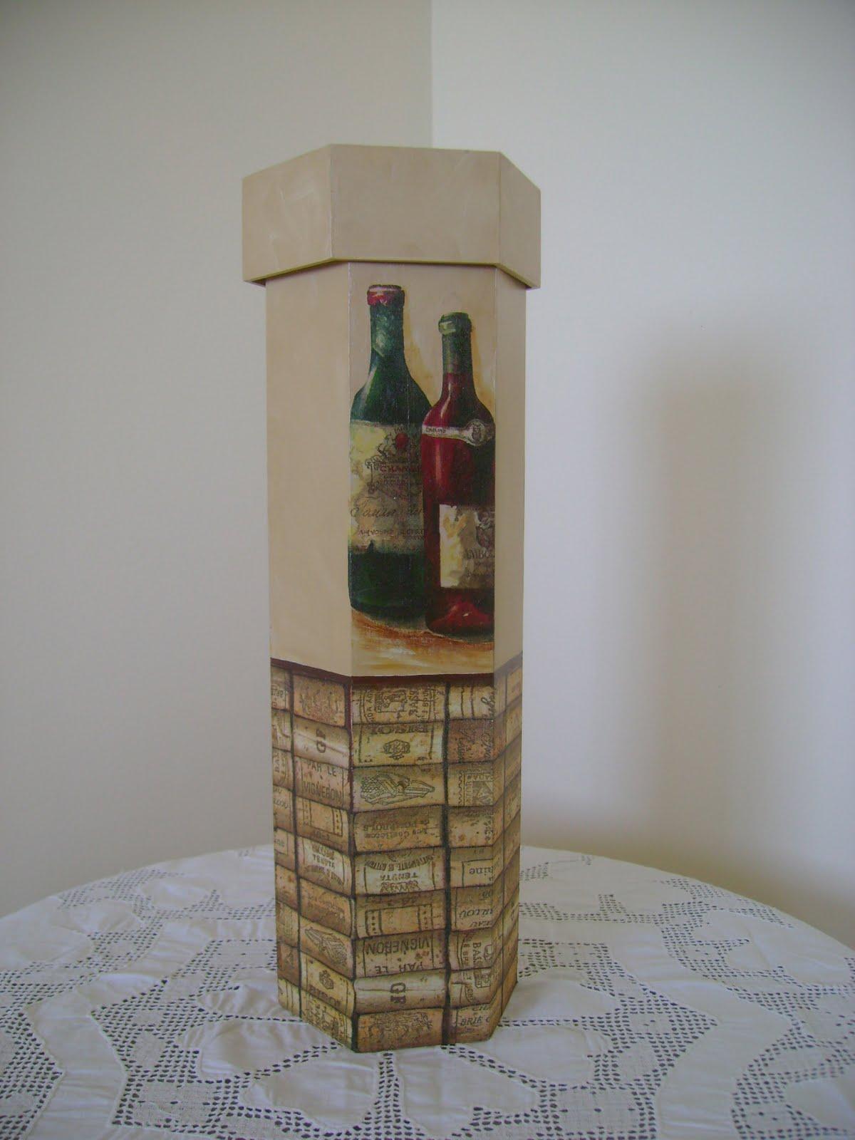 Arte Déa Miranda: Caixa de vinho 08 #604A34 1200x1600