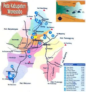 Peta Kabupaten Wonosobo,Kabupaten Wonosobo,wonosobo
