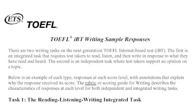 Toefle essays