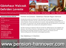 Übernachtung bei Hannover, Barsinghausen, Bad Nenndorf - Gästehaus Walczak Gehrden Leveste