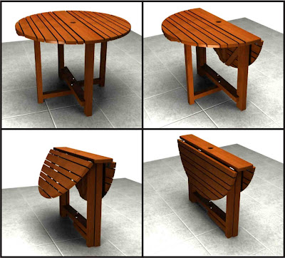 Grupo impronta dise o mesa plegable para exterior for Mesa exterior diseno