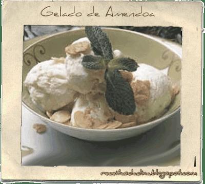 Culinária, Receitas Doces, Gelado de Amêndoa