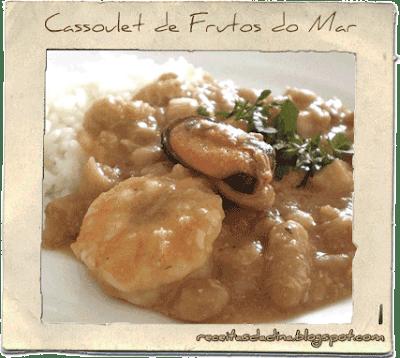 Culinária, Receitas Peixe, Caussolet de Frutos do Mar