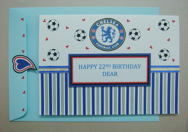 AZLINA ABDUL Chelsea FC themed birthday card – Chelsea Birthday Card