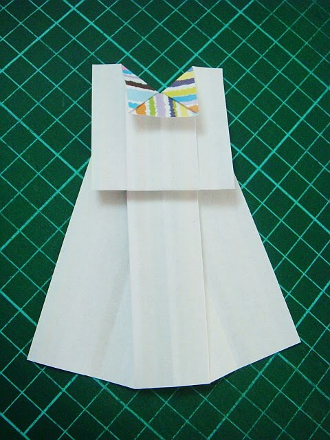 how to make origami skirt