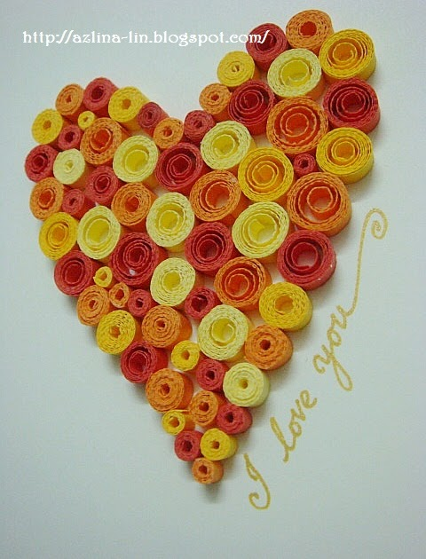 Azlina abdul quilled heart pattern 7 for Quilling heart designs
