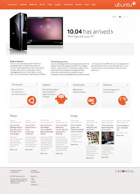 Ubuntu ໄດ້ໂລໂກ້ໃໝ່ (ຄາດວ່າ ໜ້າຈະເຫັນໃນ Ubuntu 10.04) Homepage