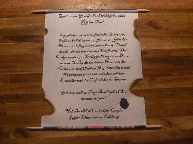 Überall & Nirgendwo: Ritter-Geburtstag Einladungen Let`s party!