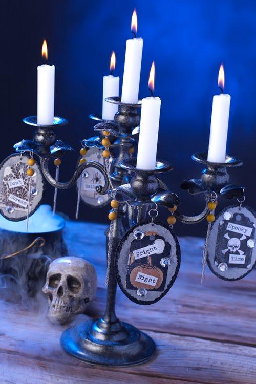 Cathie Filian: Halloween Witch Crafts: Macabre Candelabra