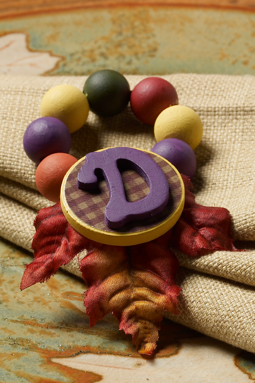 Cathie filian thanksgiving napkin rings poppy fall colors for Napkin rings for thanksgiving