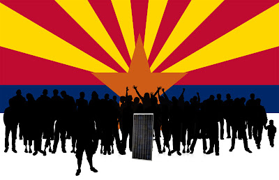 33 Arizonans with their solar module